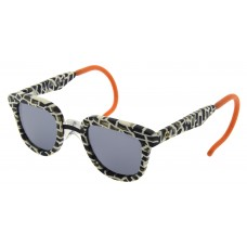 ZooBug - Black & White Clubmaster Sunglasses