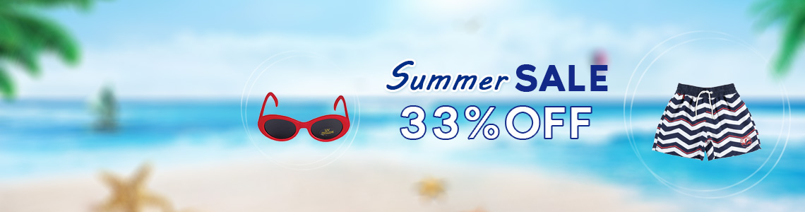 Coupon code: SUMMER33<br><small>Only applicable to none sale clothing</small>