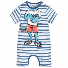 Stella McCartney Kids - Baby Boys Blue Stripes 'Kit' Shortie