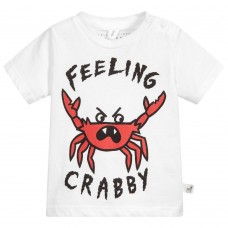 Stella McCartney Kids - Baby Boys White 'Chuckle' T.Shirt