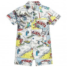 Stella McCartney Kids - Baby Boys Tourist Print 'James' All In One
